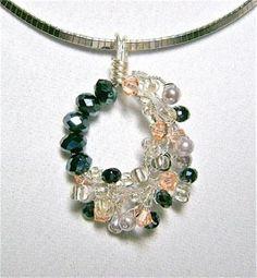 DIY Necklace  : DIY peach-twist-pendant