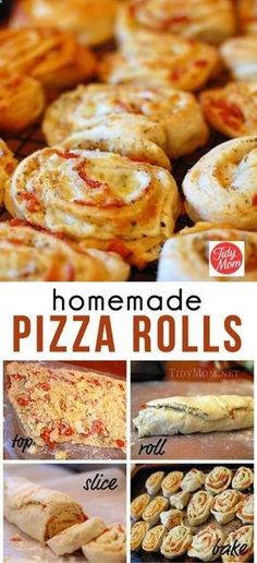 Homemade Pizza Rolls. I make them with homemade dough and the ingredients that my family likes. Theyre awesome, quick, can take them skiing with us for an easy lunch, all kids love them. A true winner!