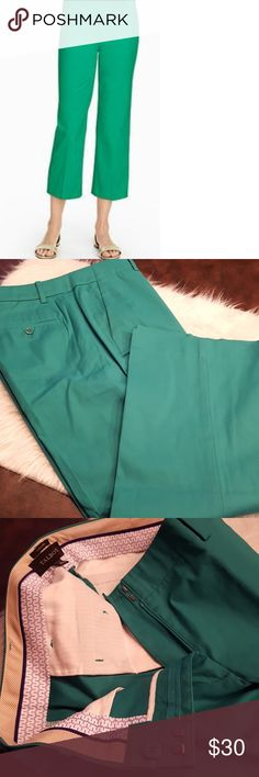 JUST IN🔶️Talbots Chelsea Cropped Jade Pants Great color! Jade cropped pant. Sz 10. Worn once. 23in inseam. Smoke free, pet free home. Talbots Pants Ankle & Cropped
