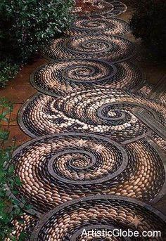 Curta seu estilo Empório das Gravatas em um lugar aconchegante ~ www.emporiodasgravatas.com.br ... path made Artisticaly with Stones...What an art ..Fantastic
