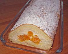 Plus Rezepte: Mandarinenquark - Biskuitrolle