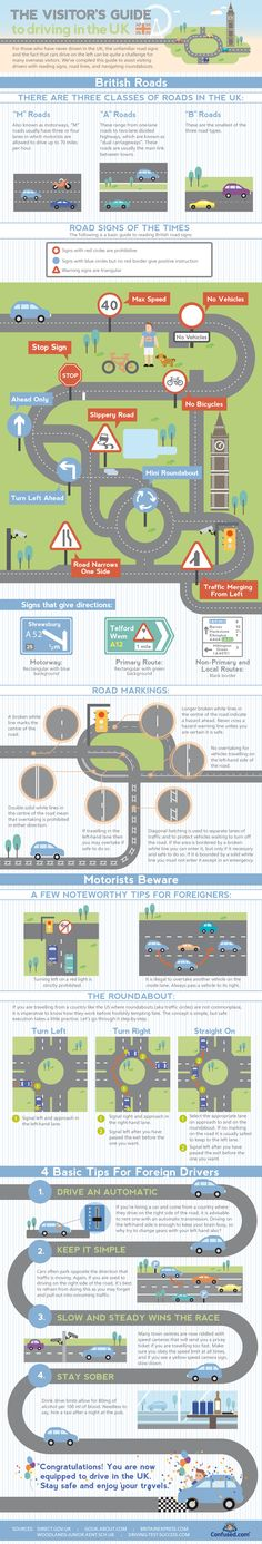 A guide to driving in the UK for tourists, and some British people need it!