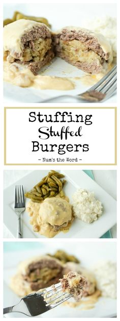 Stuffing Stuffed Burgers allow you to eat stuffing all year round!  It's also a great way to use up leftover stuffing so it doesn't go to waste!  One of our favorite ways to enjoy stuffing!