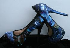 Tardis Heels Tardis Shoes Doctor Who Heels Doctor by LeadFootLucy, $90.00