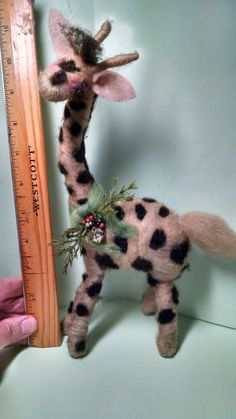 George the Giraffe Felted Wool 11 Tall by WhimsicalWoolies on Etsy