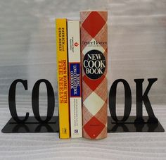 $22 CO-OK bookends. (I've decided I want to organize [some of] my books according to these adorable bookends).