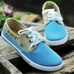 Two Colors Men Sneakers