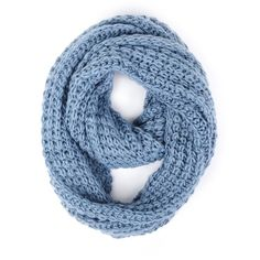 Paula Bianco Chunky Infinity Scarf in Faded Denim ($84) ❤ liked on Polyvore featuring accessories, scarves, accessories scarves & wraps, faded denim, round scarf, circle scarves, paula bianco scarves, tube scarf and chunky infinity scarves