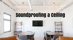 This is a Step by Step Guide on How to Soundproof Your Ceiling. Sound Proofing, Step Guide, Laundry Room, Home Remodeling, Ceiling, Wall, Home Decor, Ceilings, Decoration Home