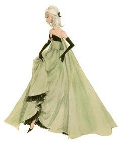 """Silkstone Barbie """"Lisette"""" sketch by Robert Best"""