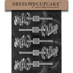 Dress My Cupcake DMCC109 Chocolate Candy Mold Waving Santa Lollipop Christmas -- Click affiliate link Amazon.com on image for more details.
