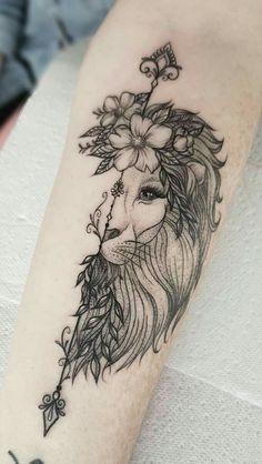 Tattoo Girls, Girl Leg Tattoos, Leo Tattoos, Couple Tattoos, Animal Tattoos, Body Art Tattoos, Tatoos, Girl Tattoo Sleeves, Girl Sleeves