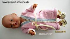 Baby born opskrifter 43 cm. Morgenkåbe og kaninsko til Baby born. Strikkeopskrift