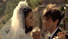 Apollonia Vitelli and Michael Corleone on their wedding day
