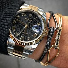 Perfect atch DATEJUST 36 mm & amazing bracelets by @melech_fashion | http://ift.tt/2cBdL3X shares Rolex Watches collection #Get #men #rolex #watches #fashion