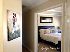 Home Decor using your wedding photo and lyrics printed and designed beautifully on canvas.