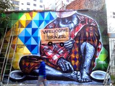 "Eduardo Kobra ""Welcome To Real Brazil"" New Mural - Sao Paulo, Brazil"