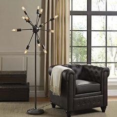 Spectrum Floor Lamp Modern Floor Lamp Twelve bulbs (not included) Steel Coated Black 110 Voltage UL Listed and Approved Assembly Required Black Floor Lamp, Floor Lamp, Lamp, Bathroom Floor Plans, Floor Lights, Flooring, Modern Floor Lamps, Home Decor Outlet, Modway Furniture