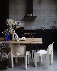 Decor, Kitchen Inspirations, Living Room Interior, Industrial Interiors, Interior Inspo, Dark Interiors, Kitchen Interior, Home Decor, House Interior