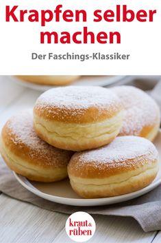 Best Cake : Make donuts yourself Dessert Ww, Dessert Recipes, Bacon Spinach Salad, German Baking, Austrian Recipes, Eat Smart, Easy Cookie Recipes, Fudge Cake, Croissants