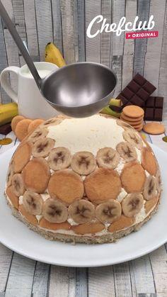 Baking Recipes, Dessert Recipes, Trifle Desserts, Chef Recipes, Brownie Recipe Video, Banana Pudding, Banana Mousse, Pudding Cake, Banana Cream