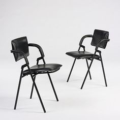 Jacques Adnet, Occasional Chairs, c1940.