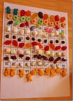 100th Day of School Snack Counting Mat