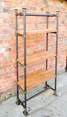 Industrial Style Free Standing Scaffold Shelving Unit - www.reclaimedbespoke.co.uk