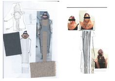 Fashion Sketchbook - fashion design development; fashion student portfolio // CJ Yao