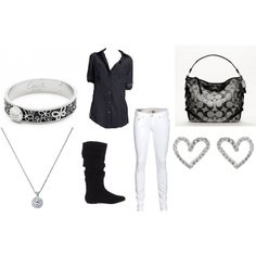 Not a big fan of white pants but putting this all together would be very cute!