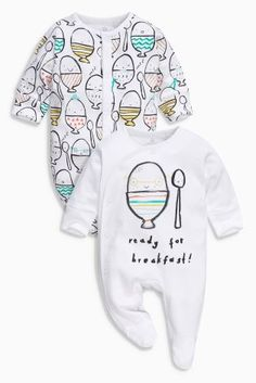 Buy Bright Egg Print Sleepsuits Two Pack (0mths-2yrs) online today at Next: United States of America