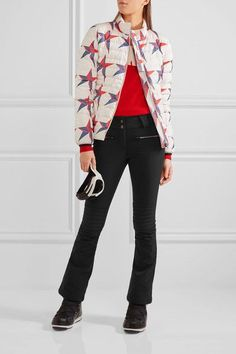 Perfect Moment - Mini Duvet Ii Printed Quilted Down Ski Jacket - White -