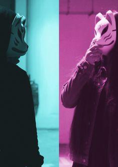 Kitsune Mask, Oni Mask, Japanese Fox Mask, Rave Mask, Fox Spirit, Costumes Around The World, Anime Couples Drawings, Colored Smoke, Art Story