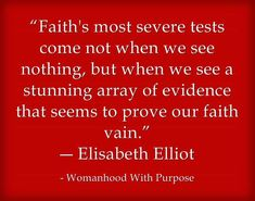 .Severe test and faith