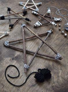 DIY Twig Star Ornaments - Decorations
