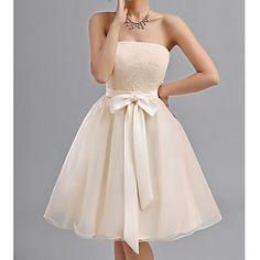 Women's Lovely Bowknot Bridesmaid Dress – USD $ 57.39