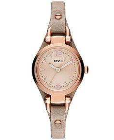 Fossil Watch, Women's Georgia Mini Sand Leather Strap