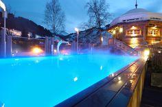 außen Pool im Hotel Alpine Palace Saalbach Hinterglemm