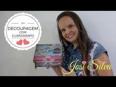 DIY-Decoupagem com guardanapo,stencil e carimbo/#Innovacarimbos com Josi Ailva - YouTube