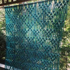 Hey, I found this really awesome Etsy listing at https://www.etsy.com/listing/220879944/macrame-wall-hanging-in-turquoise