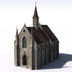 Medieval Church Lwo - 3D Model