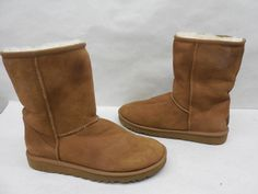 UGG Australia Womens 5825 Original Classic Short Chestnut Suede Winter Boots 9…