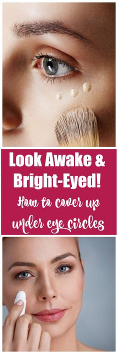 How to cover up under eye circles: It's no secret that one of the most prevalent issues when it comes to makeup is covering dark circles. No matter how much concealer you swipe under your eyes, it just can't take those ever-present dark circle Covering Dark Circles, Dark Circles Under Eyes, Dark Under Eye, Eye Circles, Covering Acne, Makeup Tricks, Diy Makeup, Beauty Makeup, Makeup Ideas