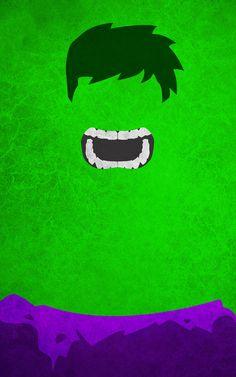 Hulk Superhero Poster. Superhero Minimalist Poster Designs. #minimalism #superheros