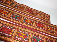 Kutch Indian Embroidered Lace / Trim  2 yard by uDazzleSupplies