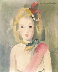 Portrait de jeune fille, 1942, Marie Laurencin. French (1883 - 1956)