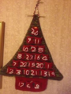 Knitted advent calendar