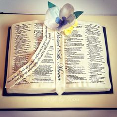 Recorded live on Periscope! Watch me make an open bible book cake from start to finish.