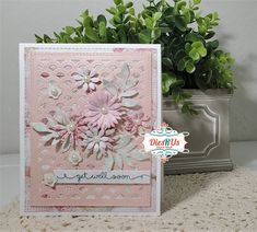 Tiny Flowers, My Flower, Simply Stamps, Quick Cards, Get Well Cards, Paper Hearts, Gift Certificates, Floral Bouquets, Simple Designs