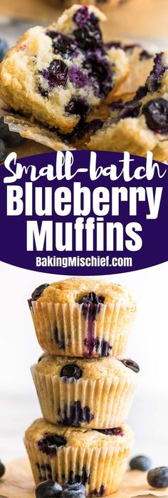 These Small-batch Blueberry Muffins are fabulous little muffins. They are soft and moist, with lots of blueberries and just a hint of lemon in the batter.